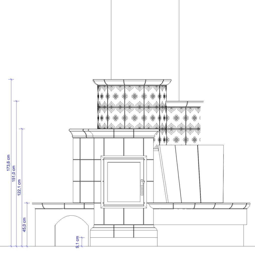 Stufe in maiolica su misura - progetto